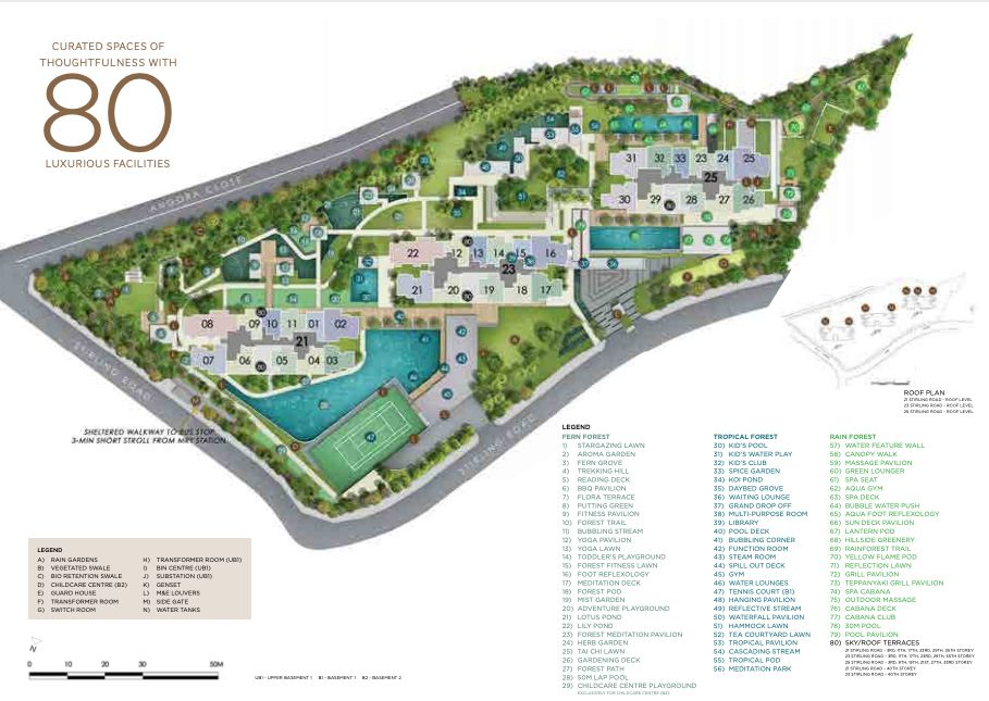 Stirling Residences site plan