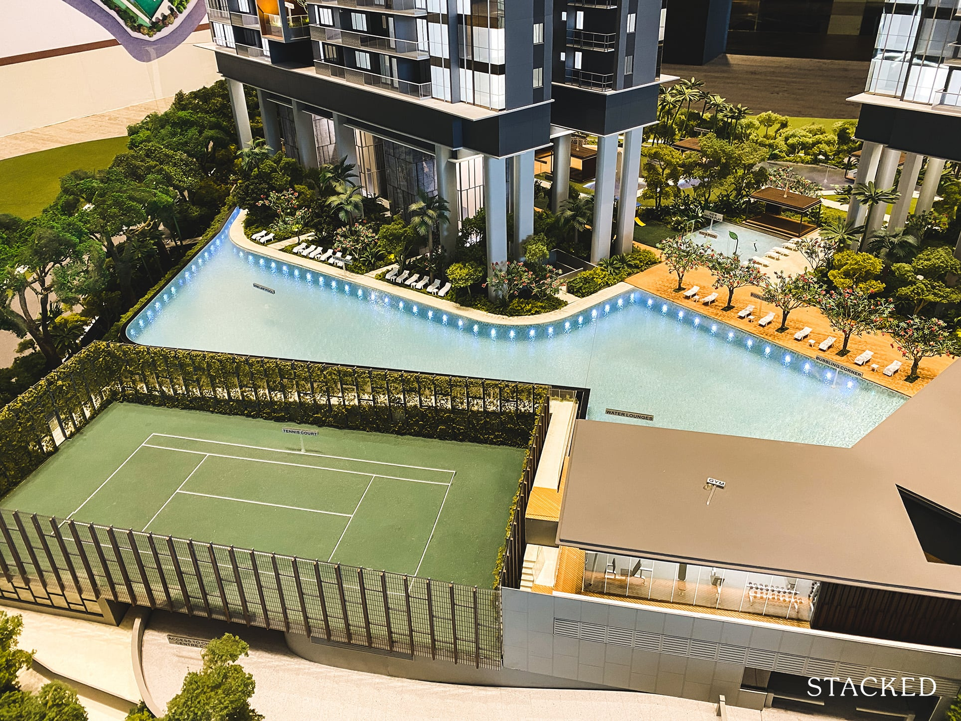 Stirling Residences tennis court
