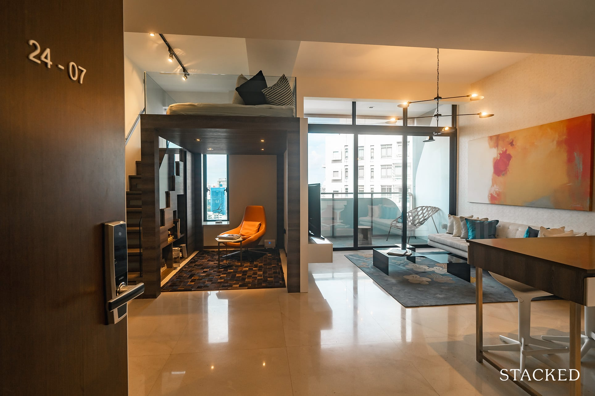 the Scotts tower 2 bedroom entrance