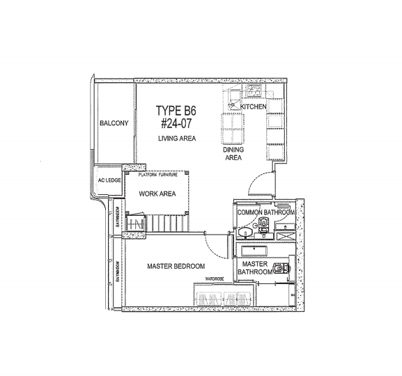 the Scotts tower 2 bedroom floorplan
