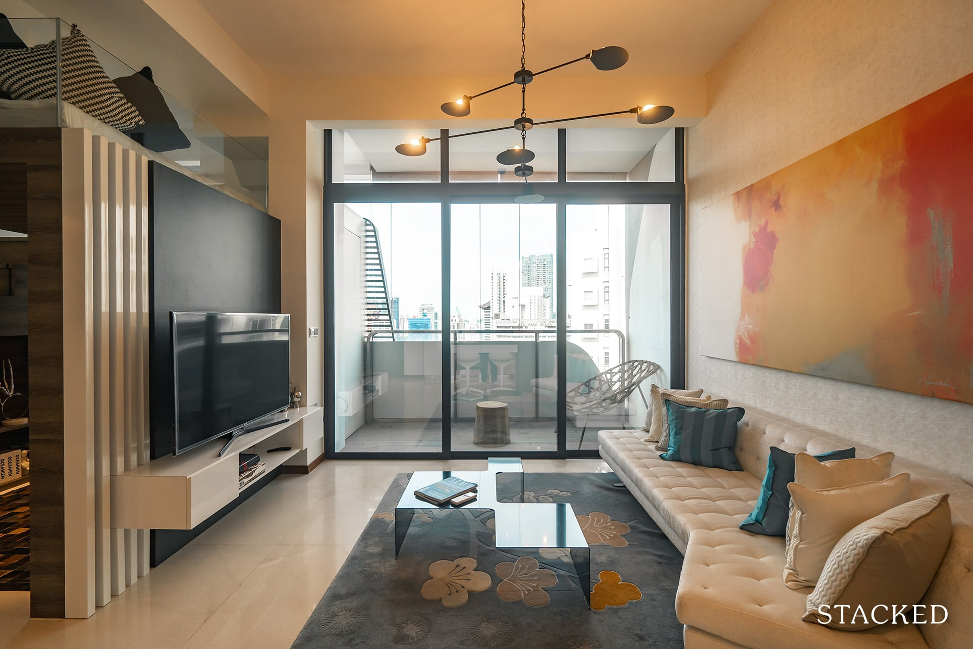 the Scotts tower 2 bedroom living