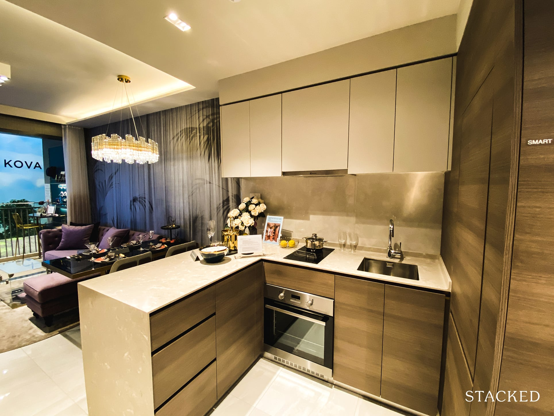Florence Residences 2 bedroom deluxe kitchen