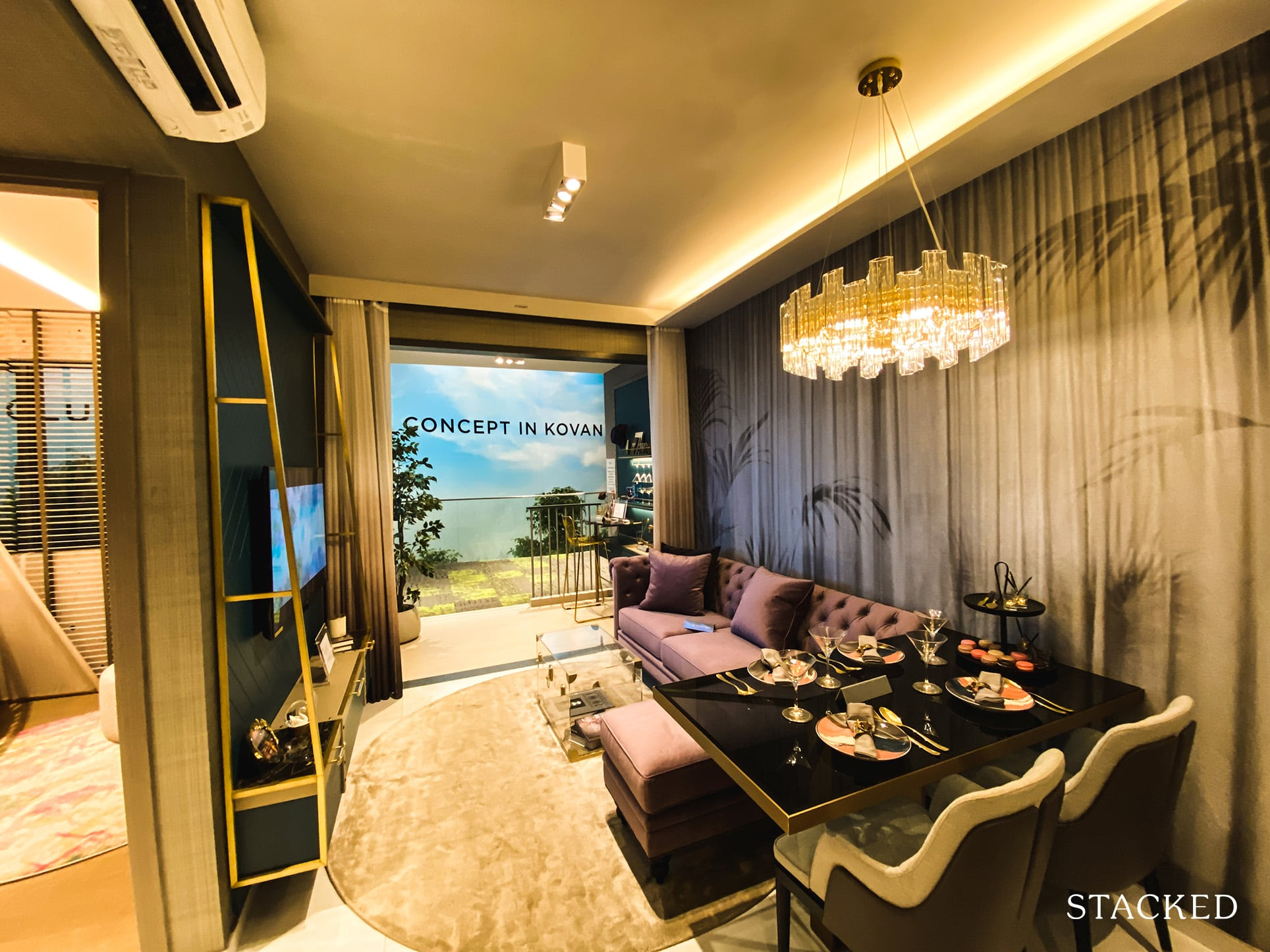 Florence Residences 2 bedroom deluxe living dining