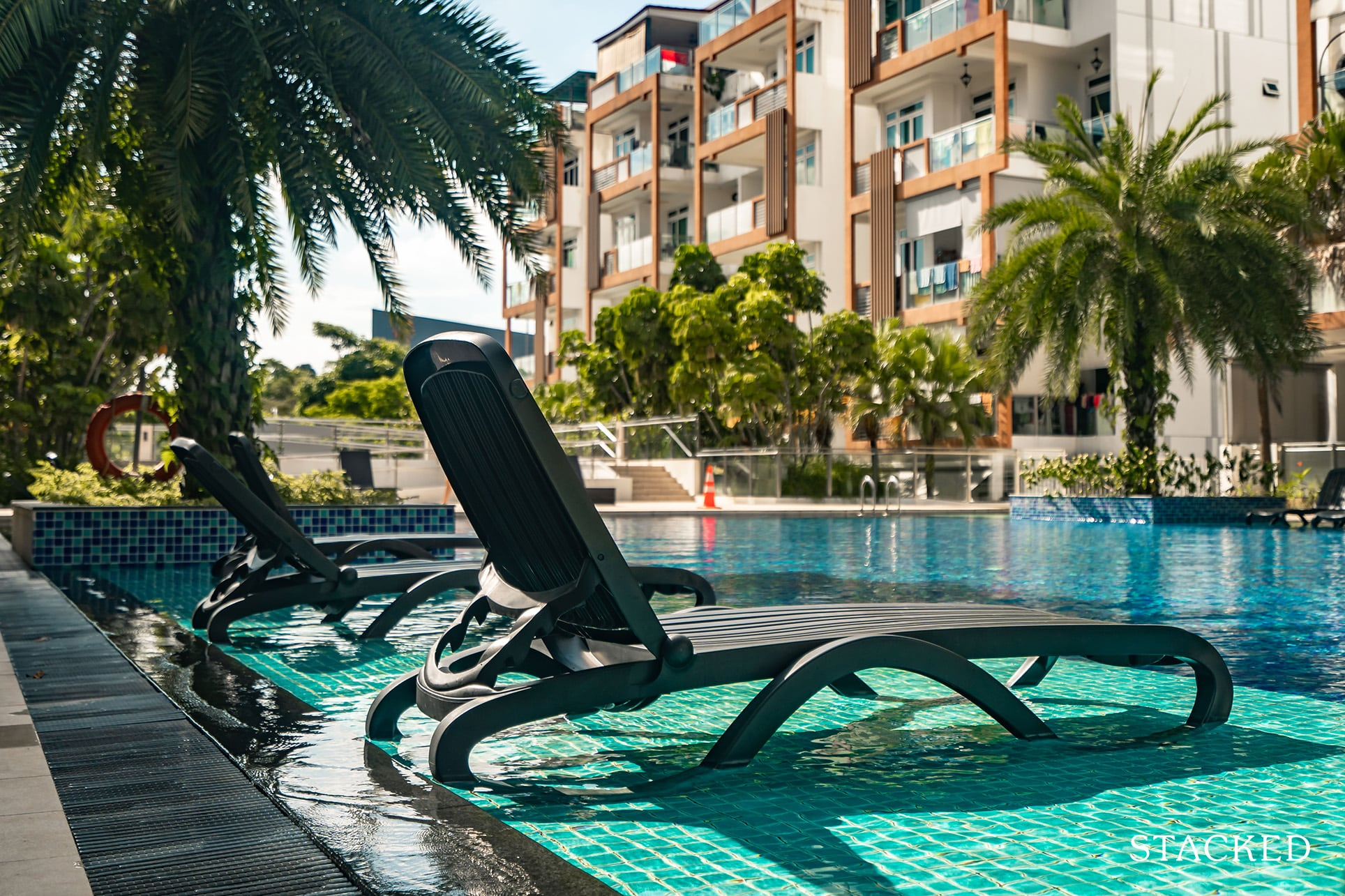 parc rosewood deck chairs swimming pool
