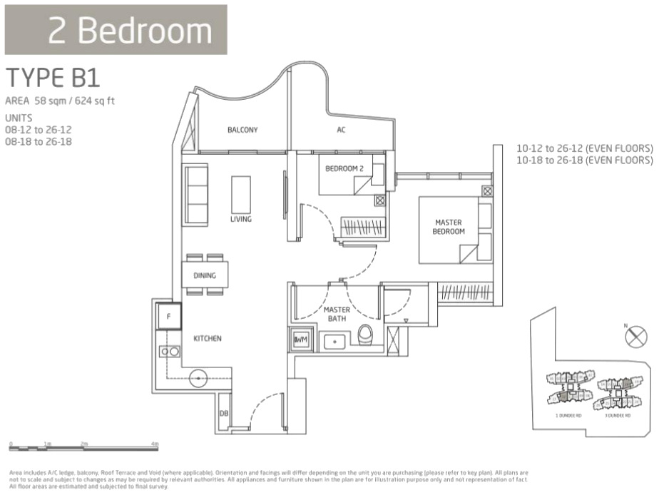 queens peak 2 bedroom floor plan