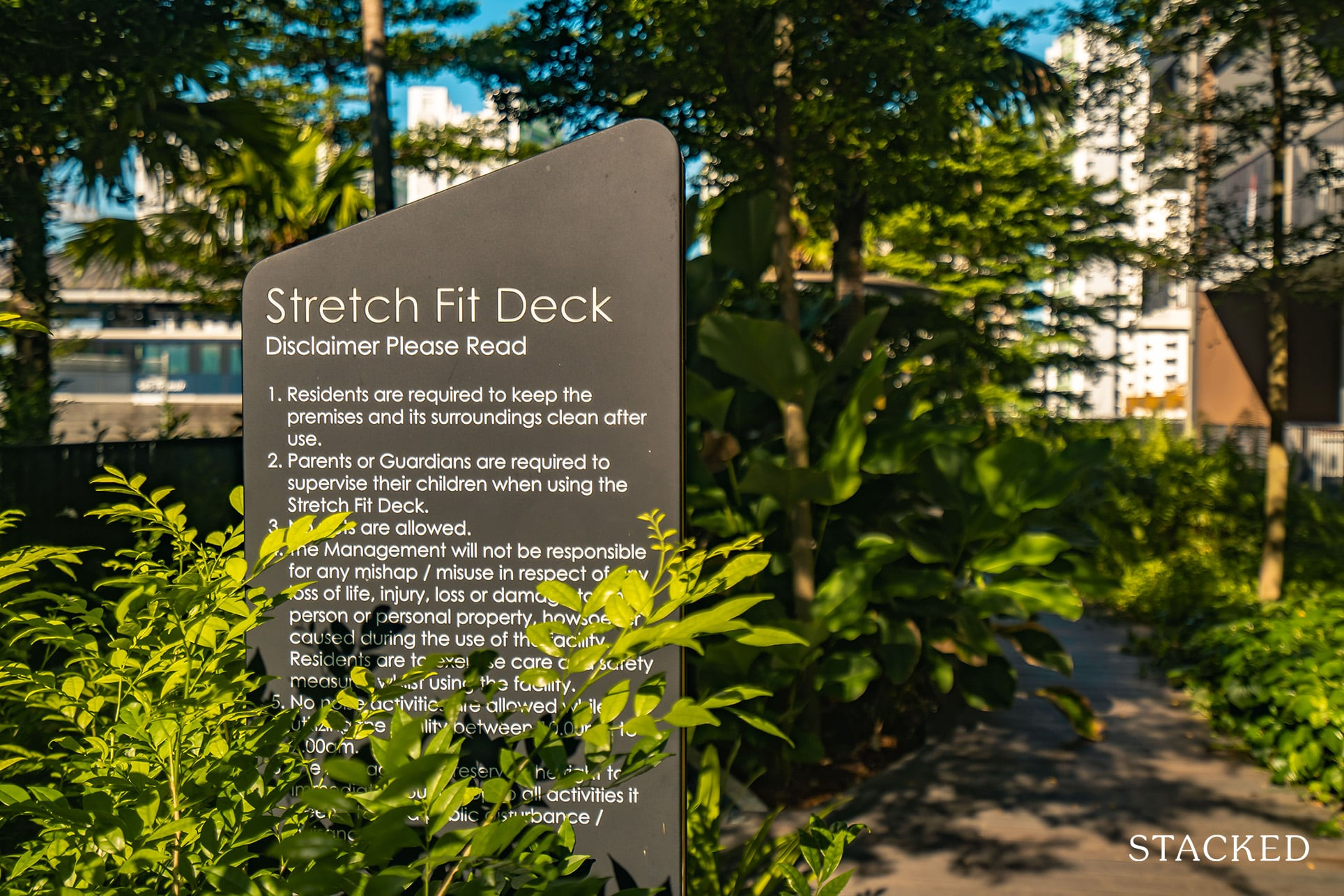 high park residences stretch fit deck