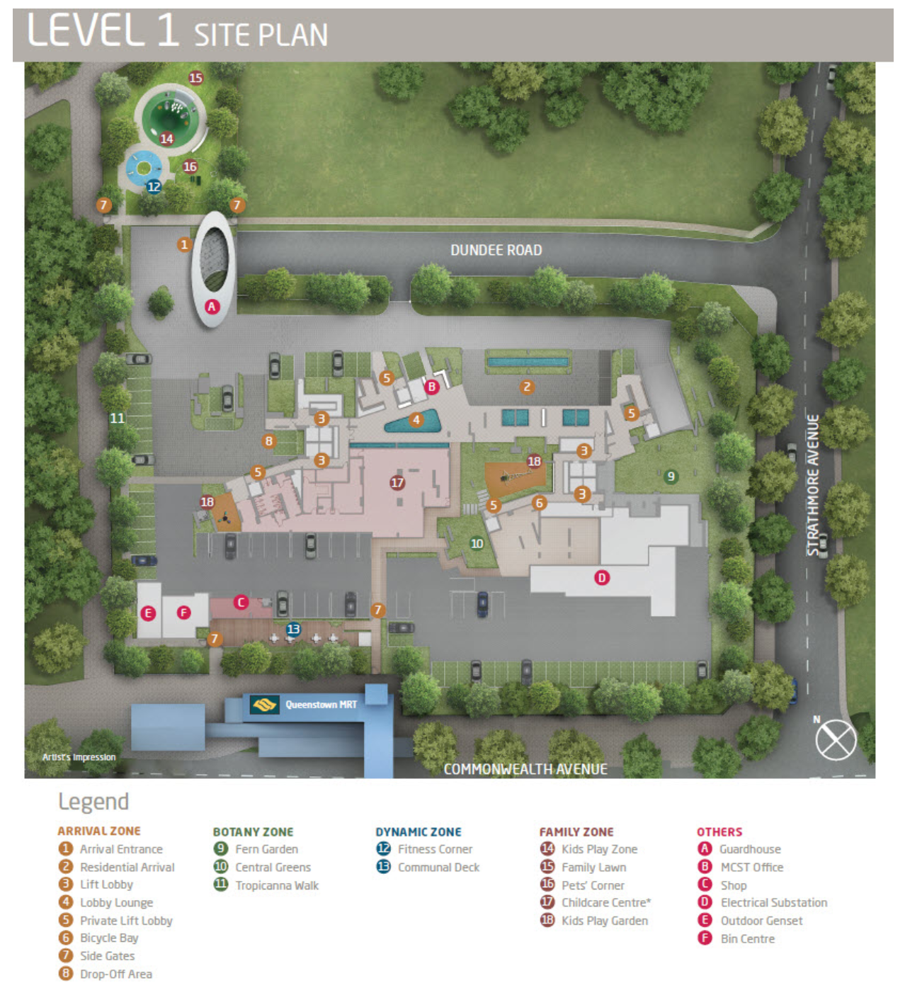 queens peak level 1 site plan