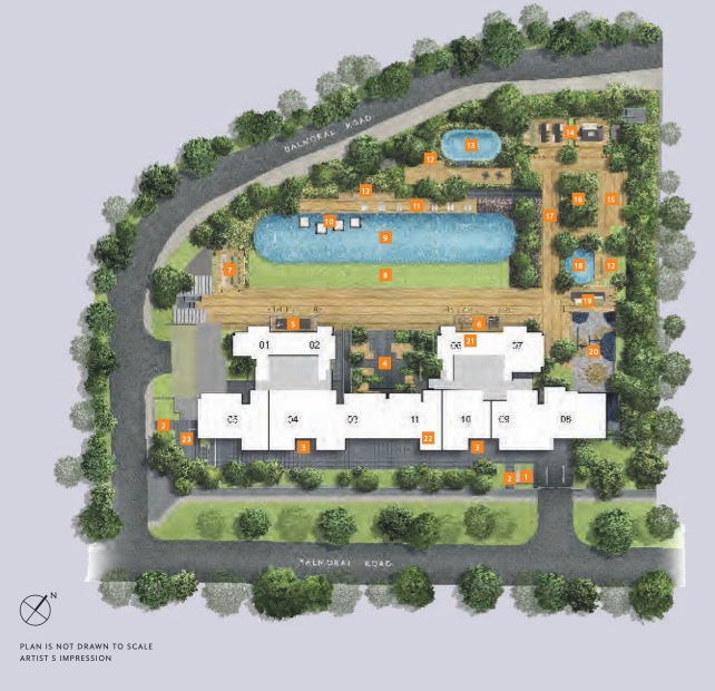 The Hyde site plan