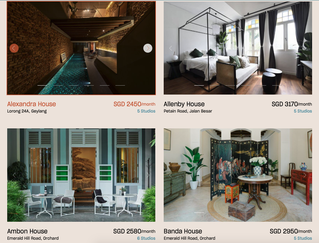 figment co-living different options
