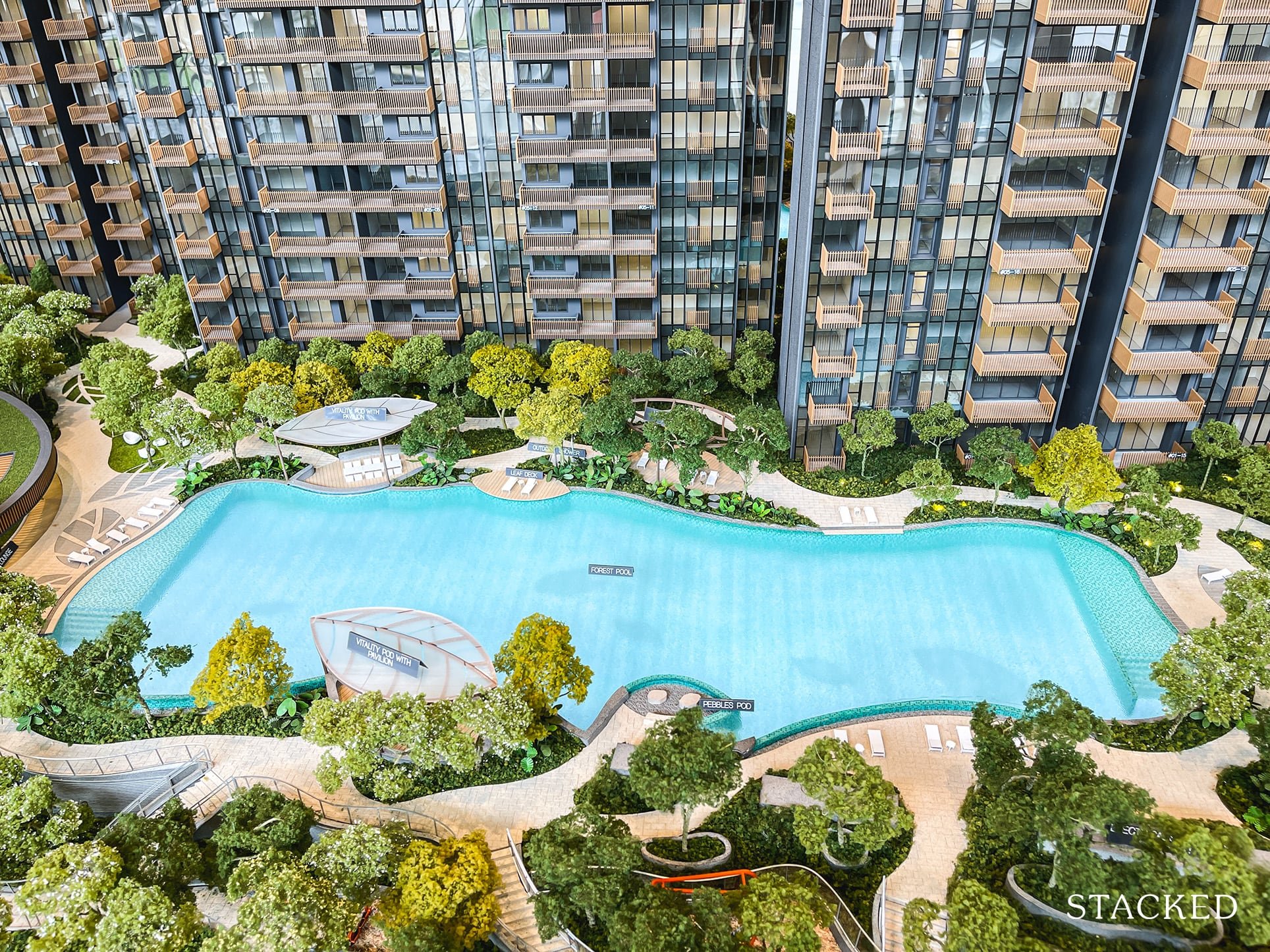 ki residences forest pool