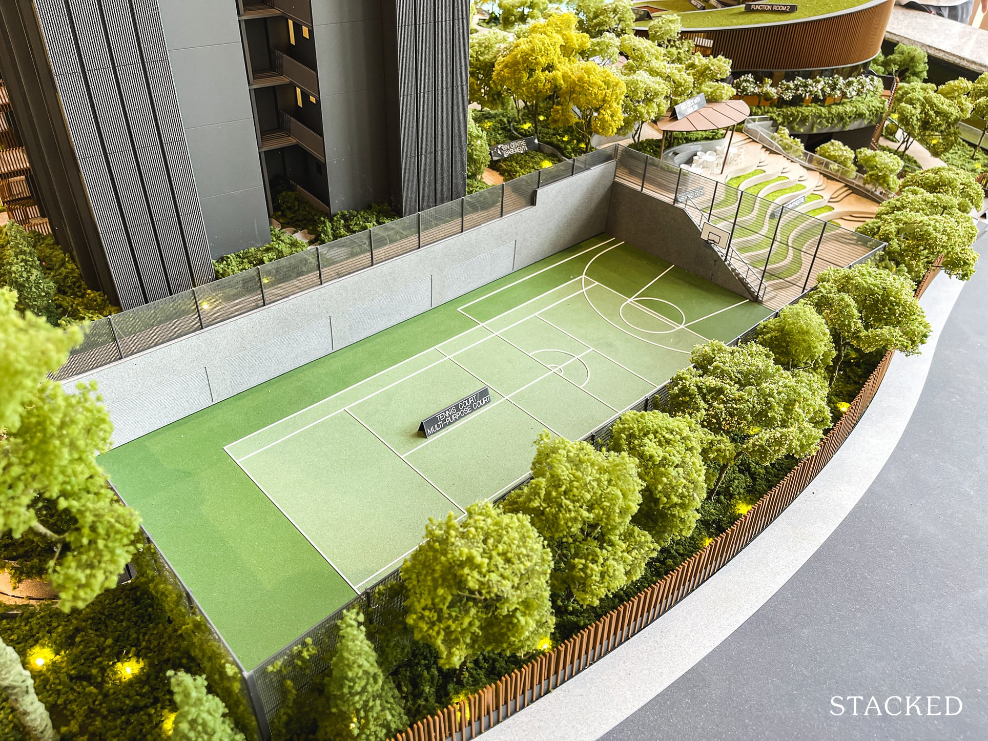 ki residences tennis court