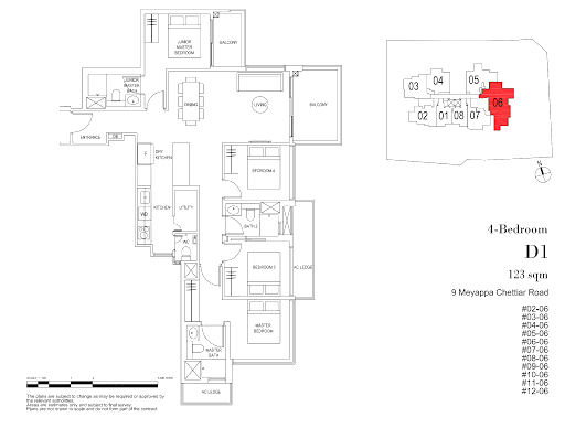 myra condo 4 bedroom floorplan