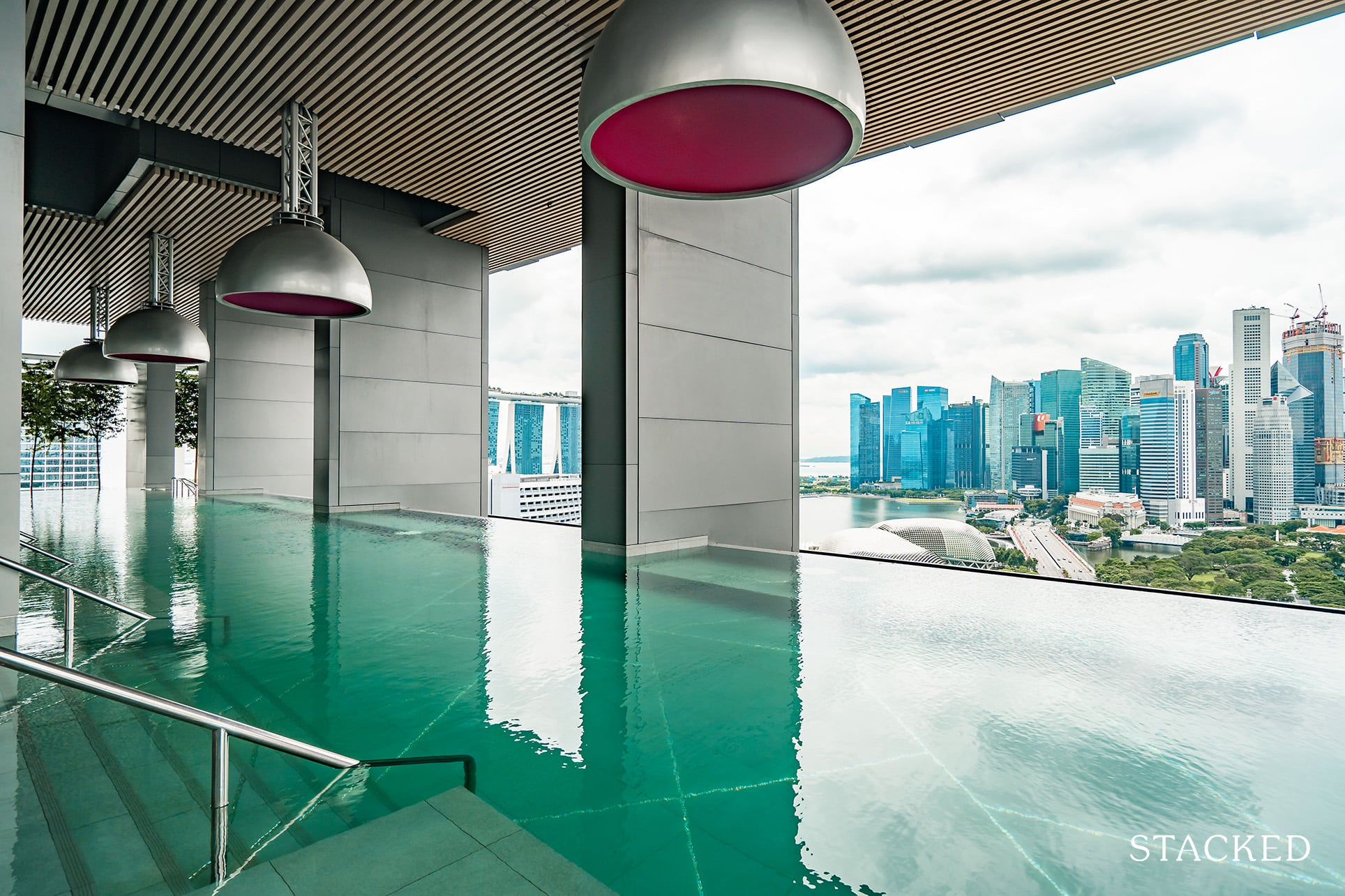 South Beach residences pool
