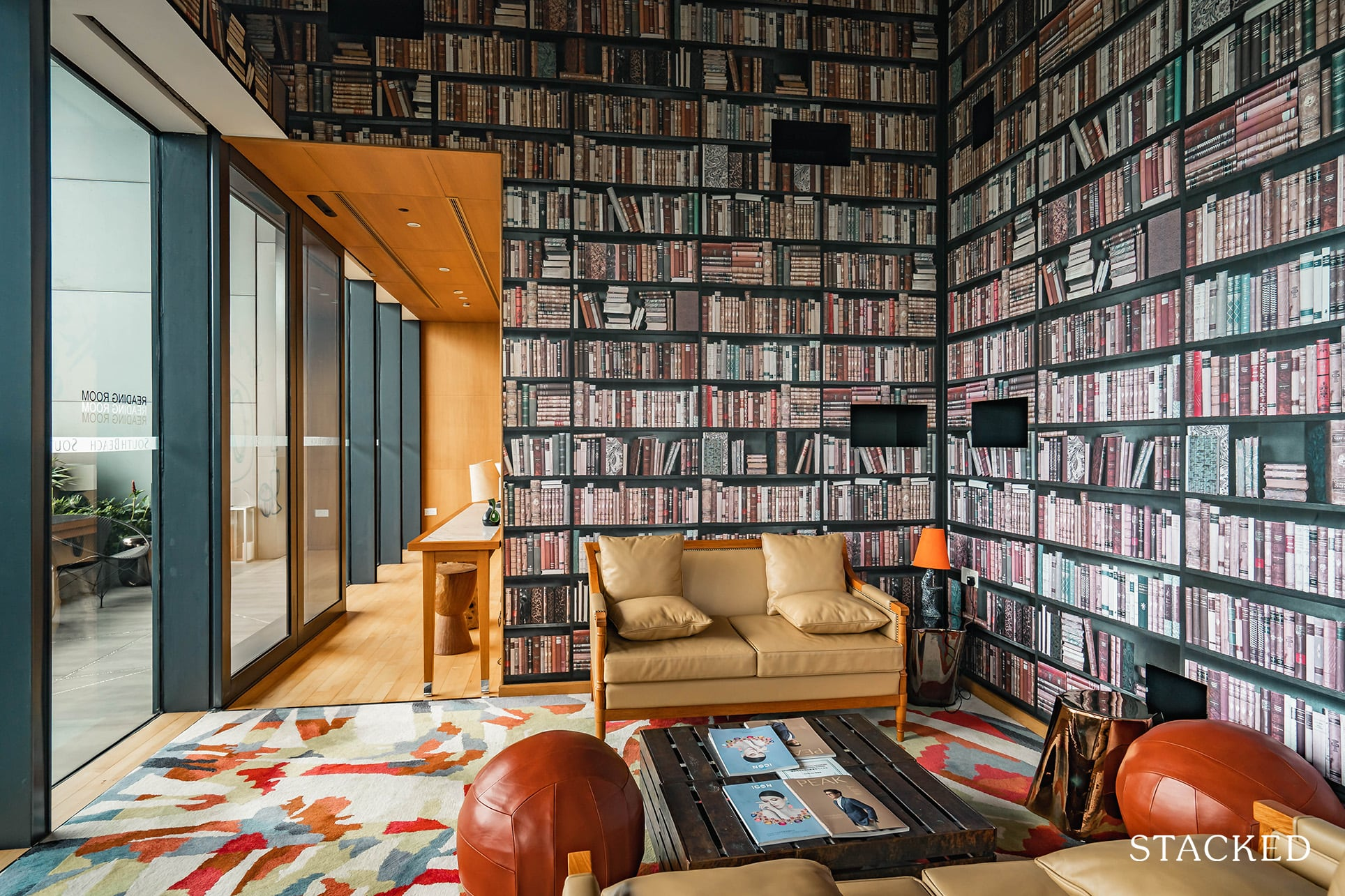 South Beach residences reading room