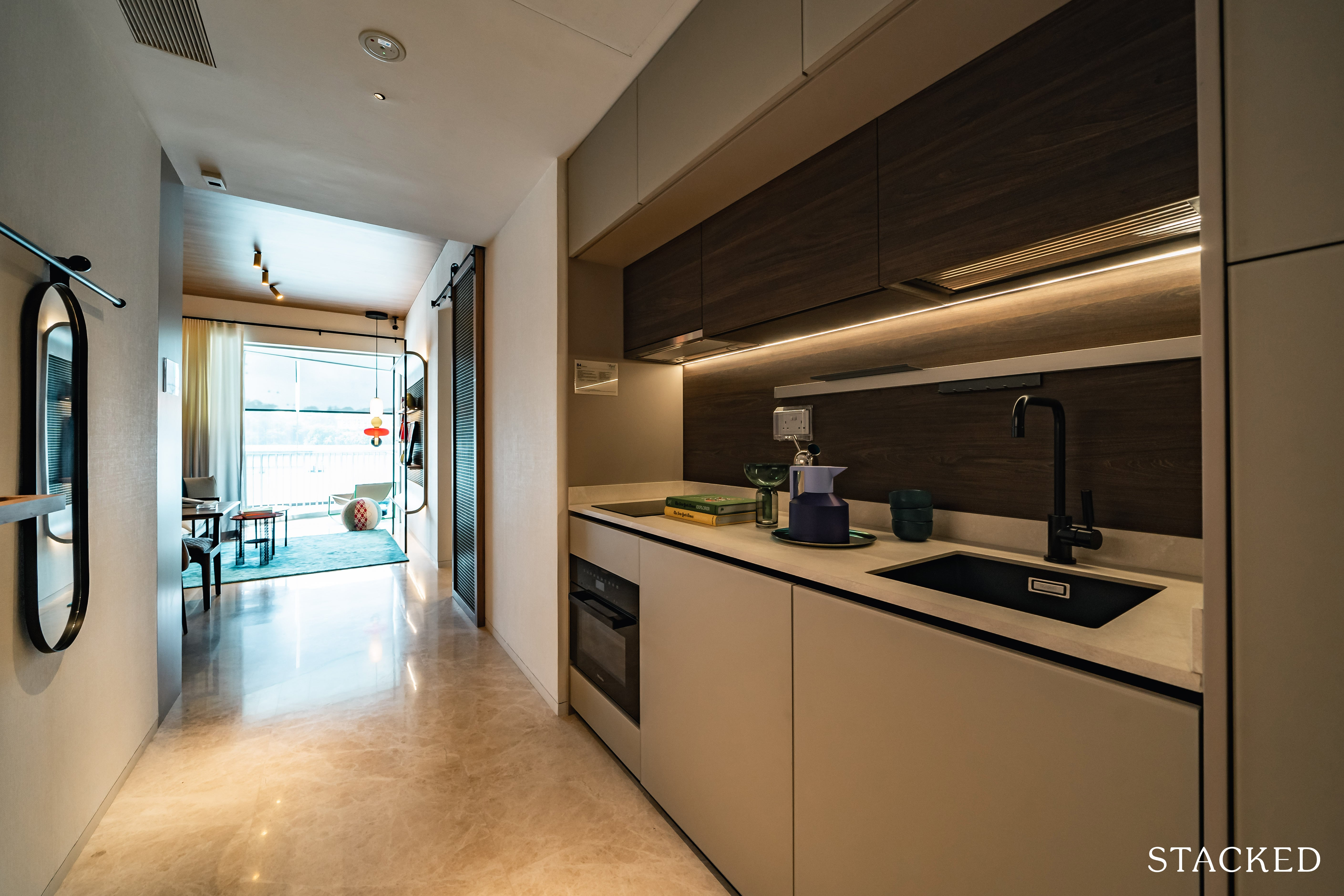 the reef at king's dock 2 bedroom kitchen