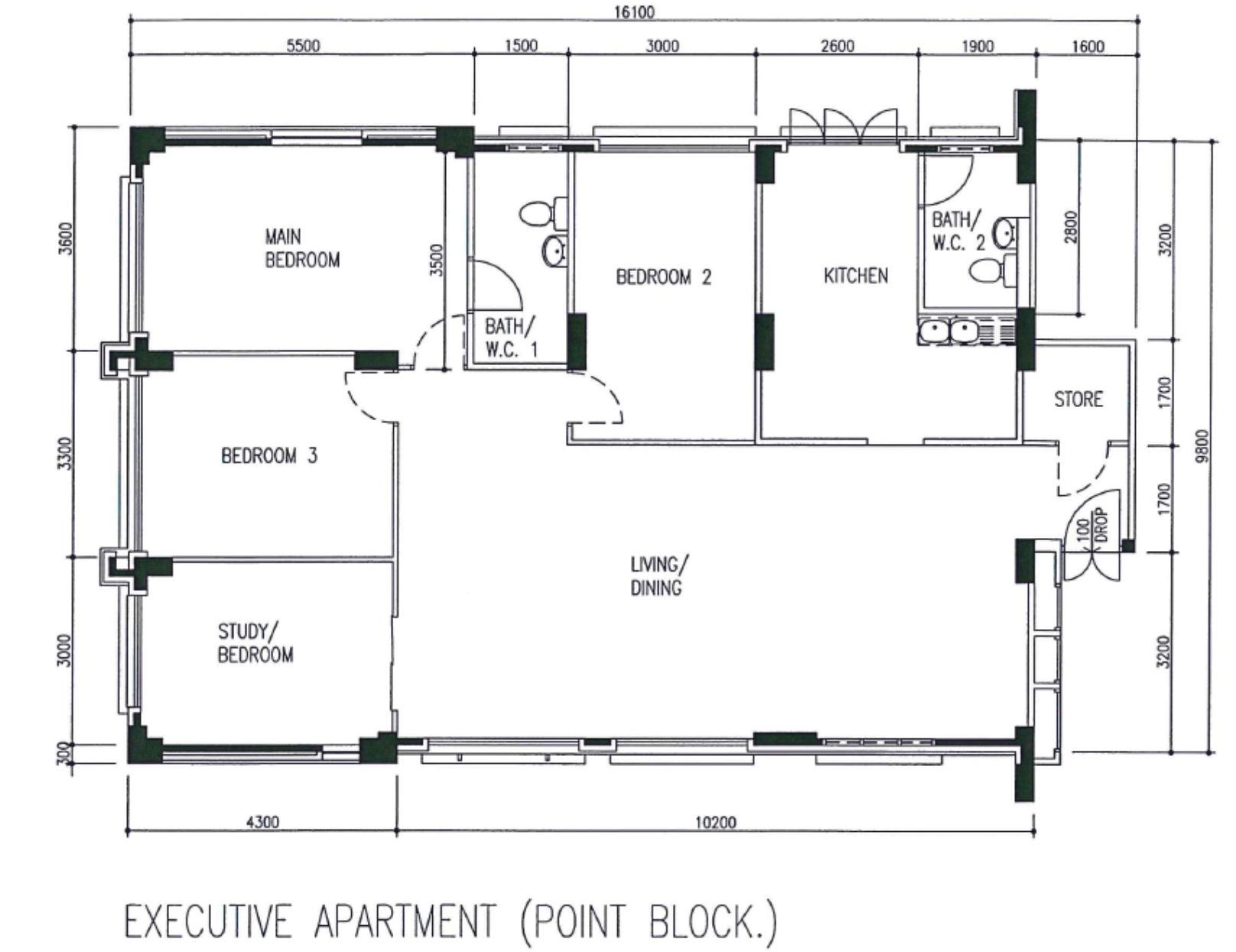 executive apartment floor plan