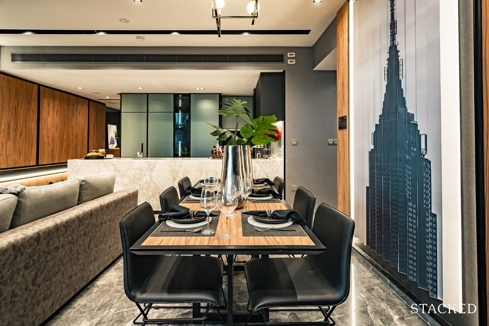 the atelier 3 bedroom dining