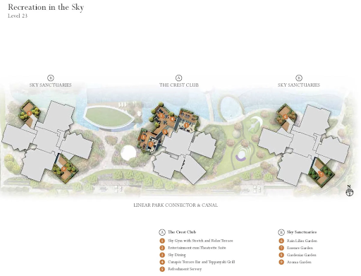 the crest site plan