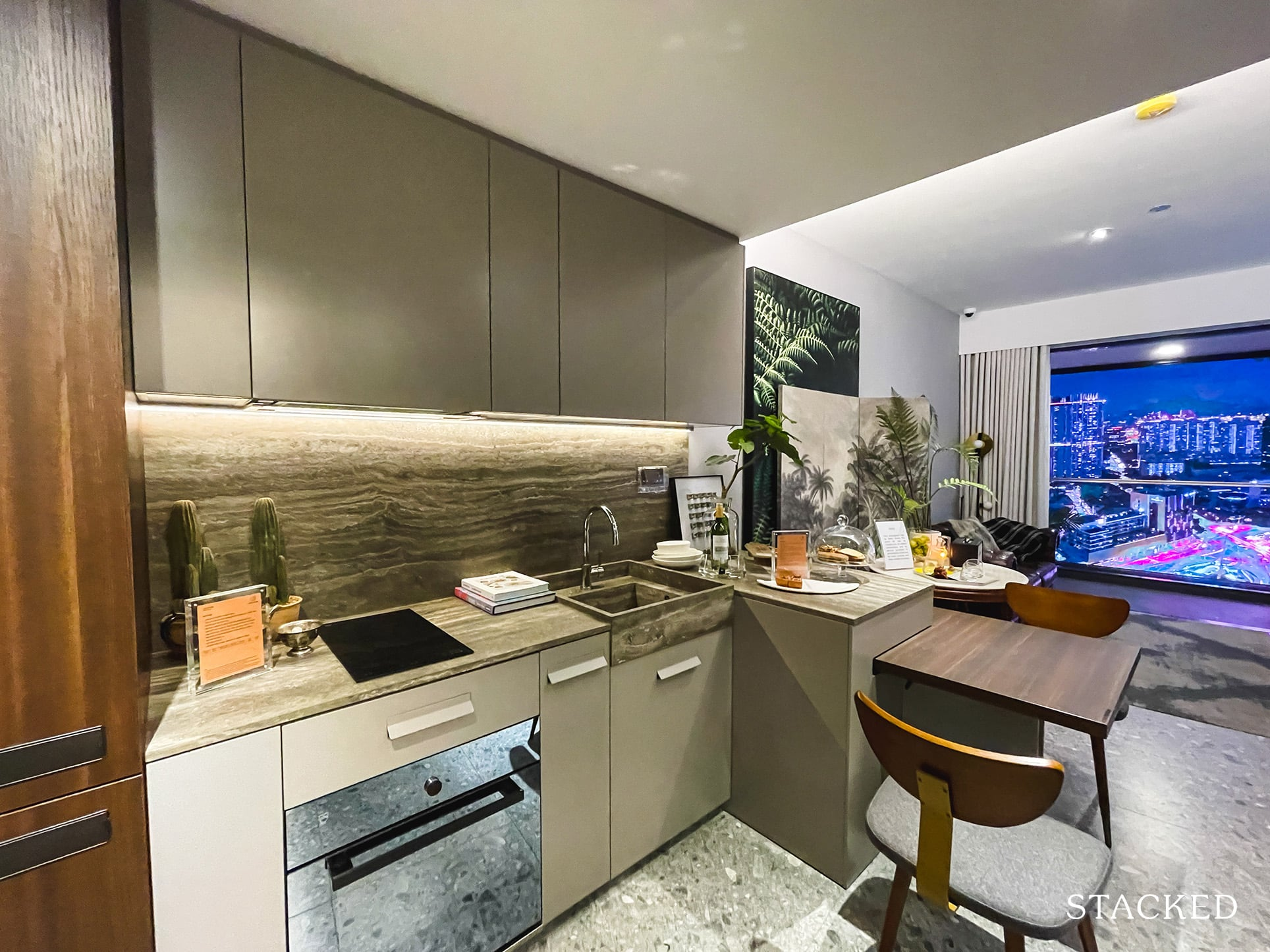 one pearl bank 1 bedroom kitchen