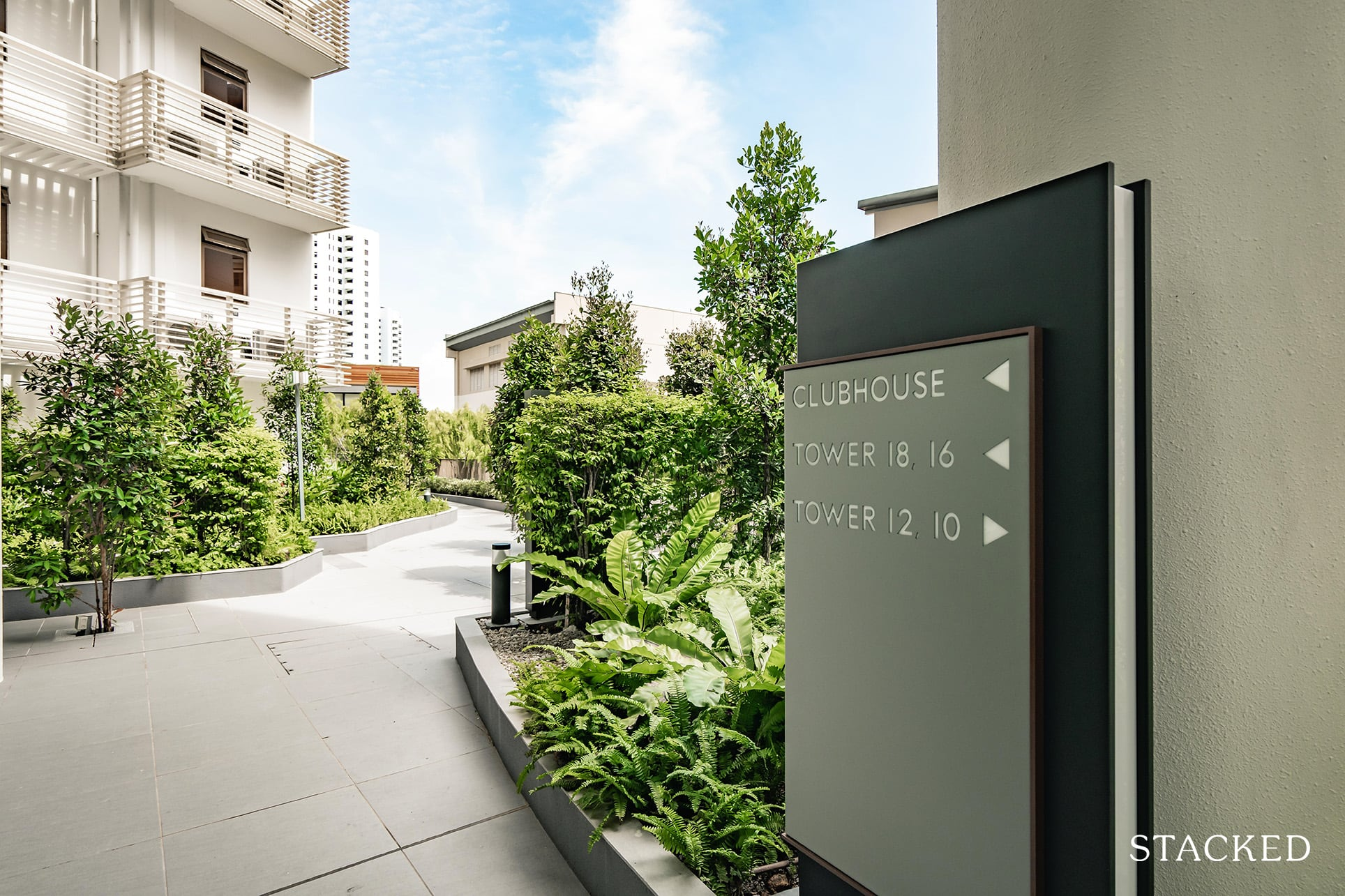 seaside residences clubhouse sign