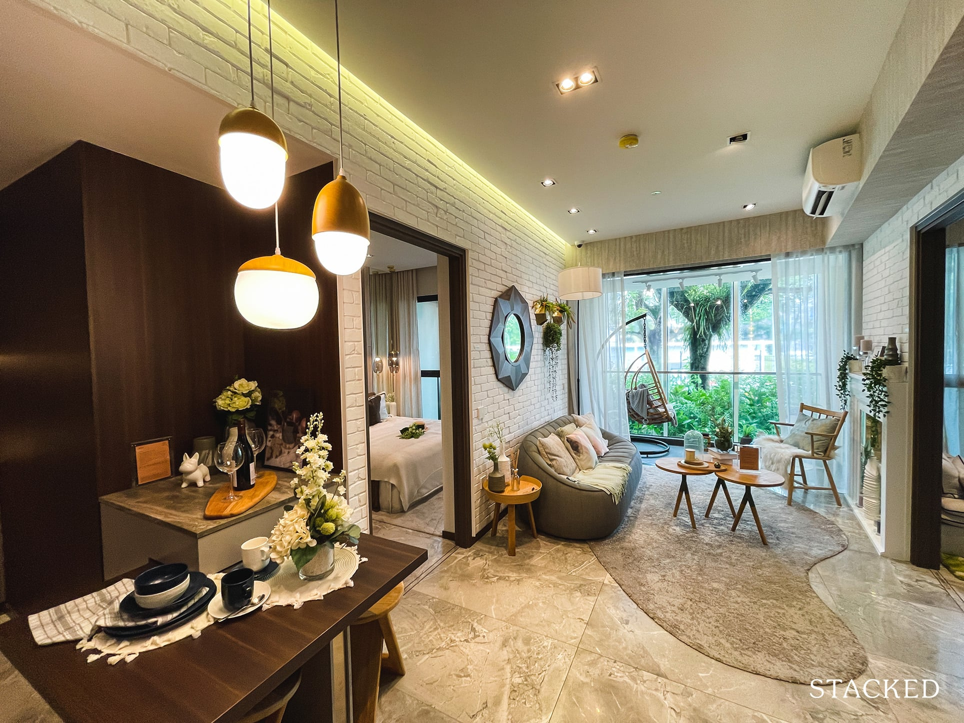 one pearl bank 2 bedroom dining living