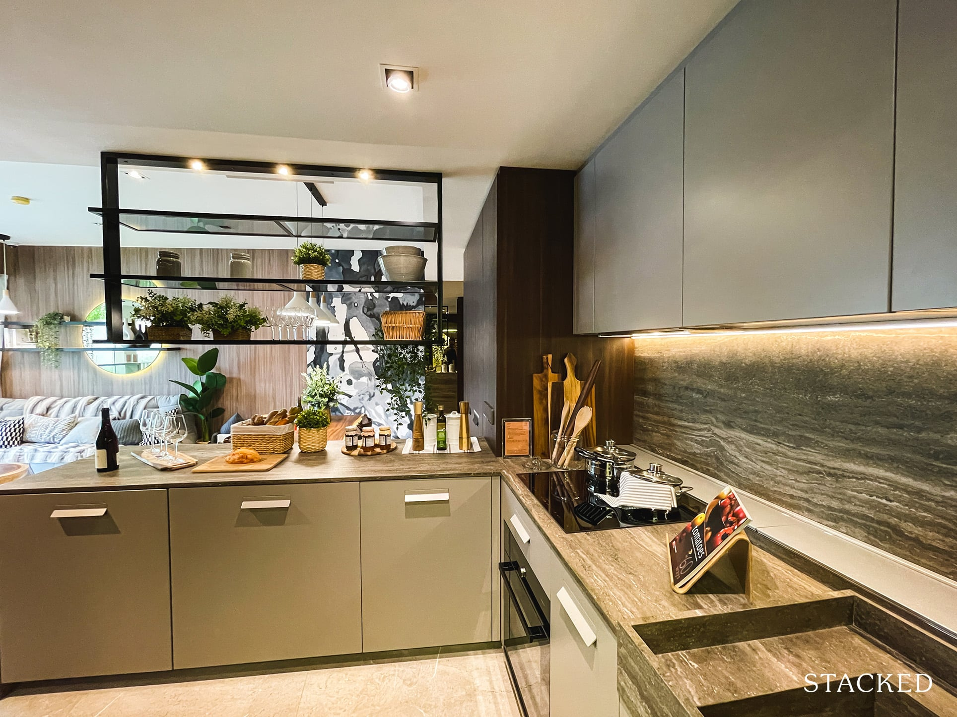one pearl bank 3 bedroom kitchen counter