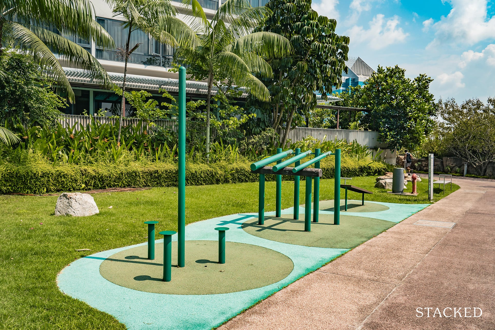 the interlace outdoor fitness stations