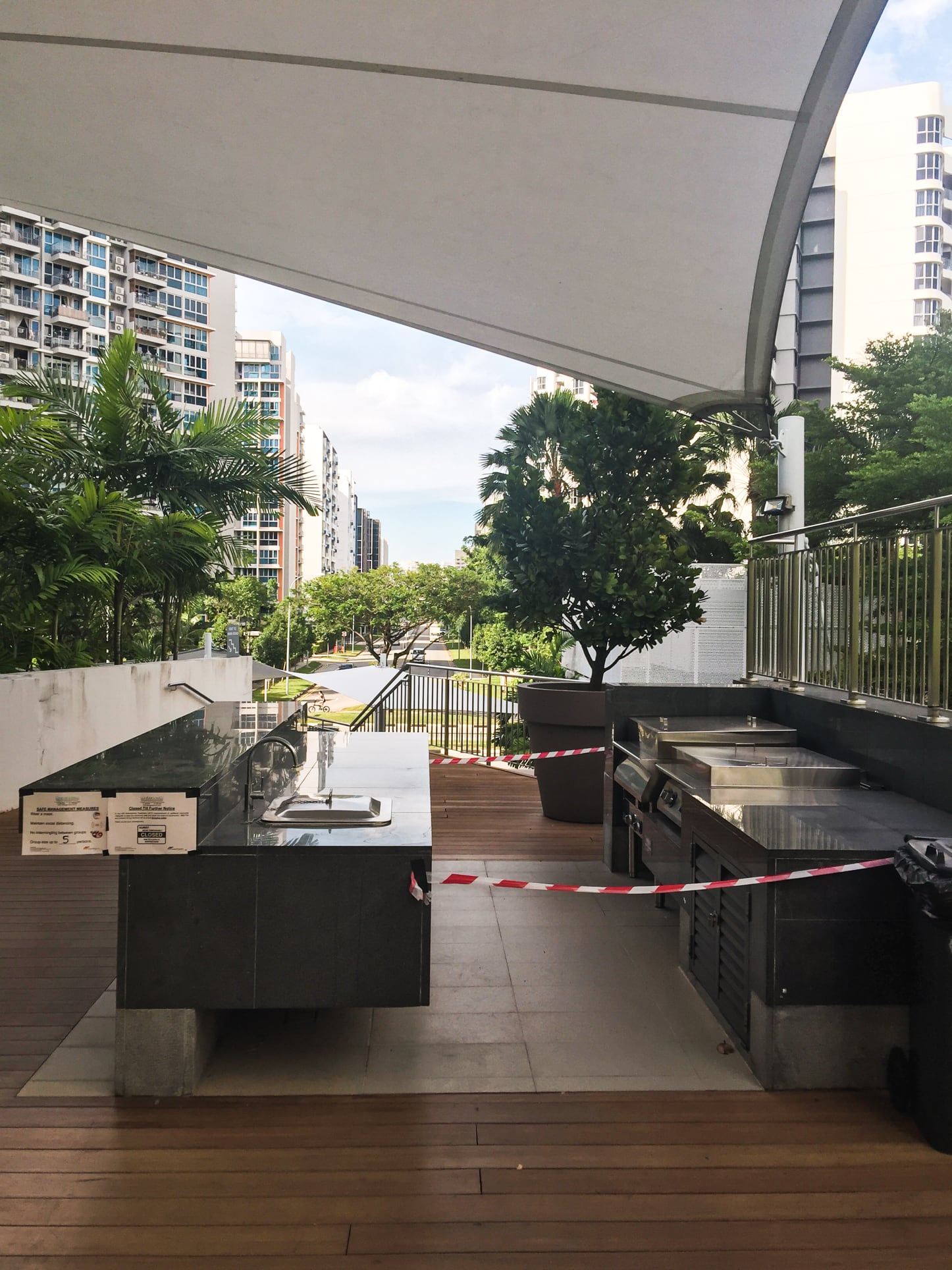 waterview condo bbq