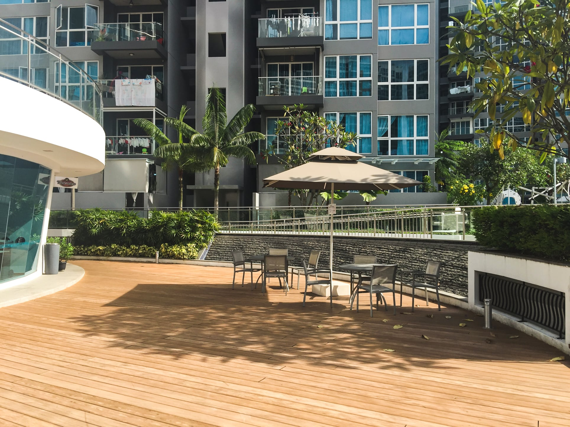 waterview condo clubhouse deck