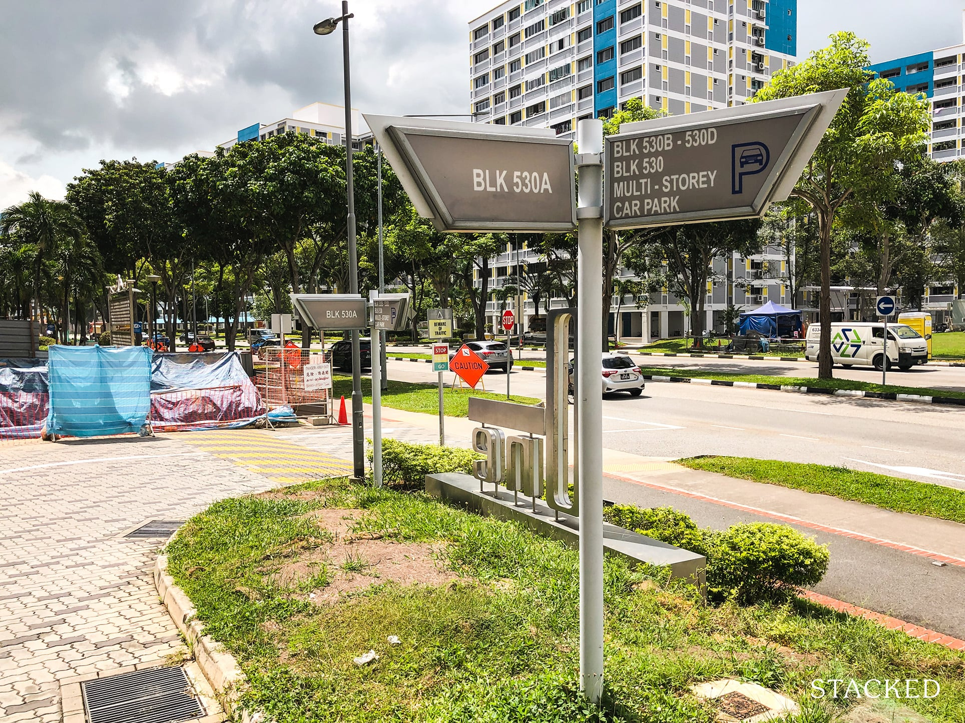 Pasir Ris ONE DBSS Directional Signs